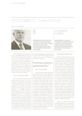 STOCK MARKETS - THINK POSITIVE